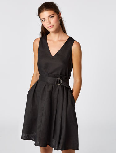 ピュアリネン Aライン ドレス