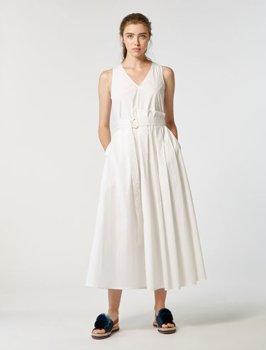 Long cotton poplin dress