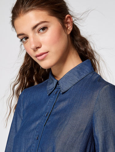 A-line shirtdress in denim
