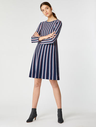 A-line jacquard knit dress