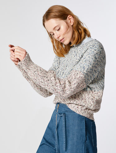 Tweed-effect sweater