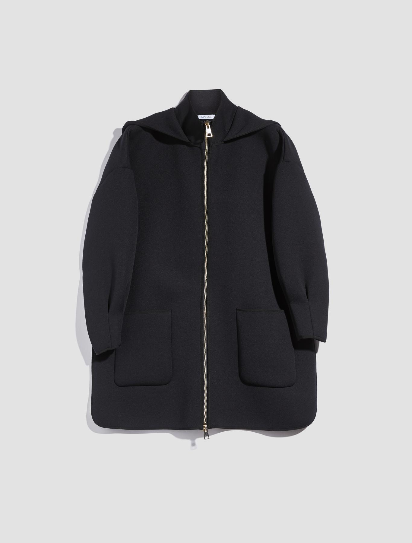 Jersey mantel mit kapuze