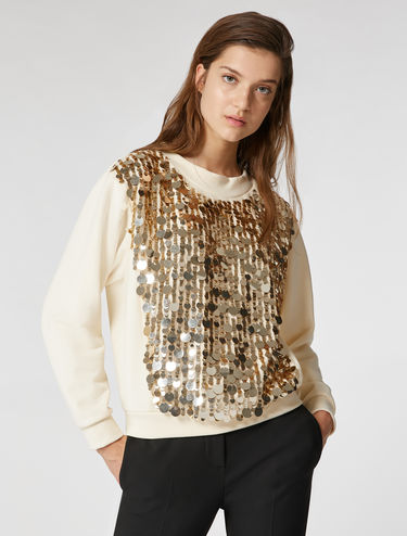 Sweatshirt with rhinestone maxi sequins