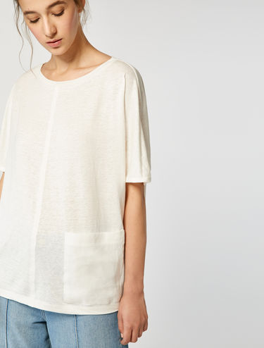 Oversized linen jersey T-shirt