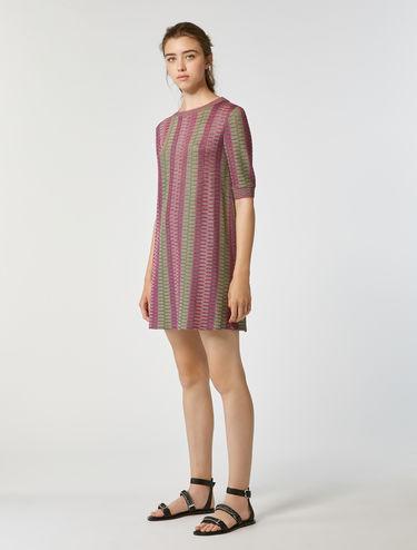 Micro-pattern jersey tunic
