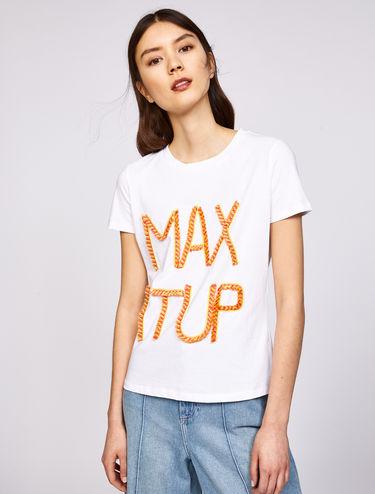 T-shirt en jersey de coton avec appliqués