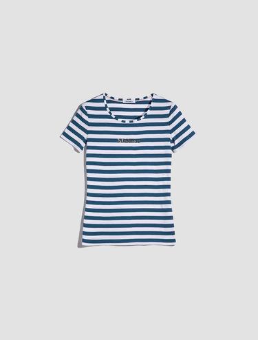 スパンコール ロゴ付き Tシャツ