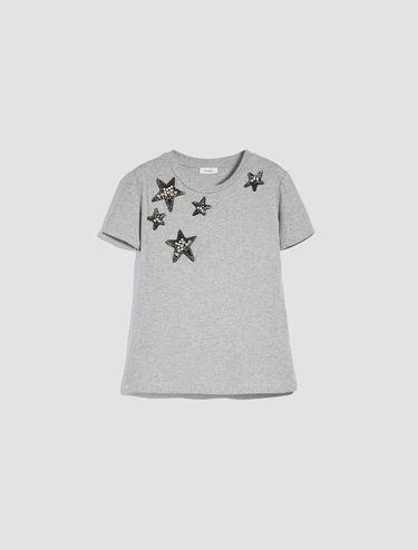 フローラル/スター ディテール Tシャツ