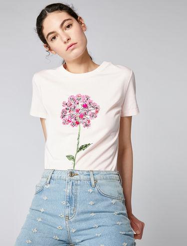 T-shirt à motif fleur ou étoile