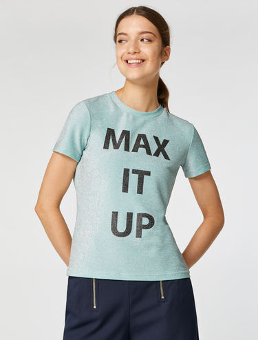 T-shirt MAX IT UP in jersey lamé