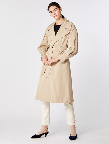 Trench-coat en faille microfibre