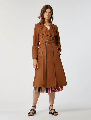 Trench coat in cotton/nylon