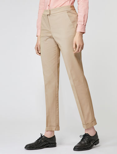 Pantalon en faille stretch