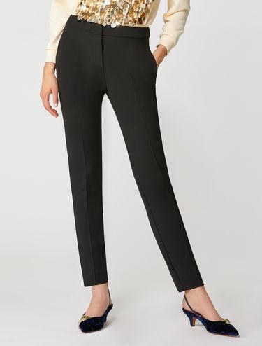Pantaloni slim in tessuto double