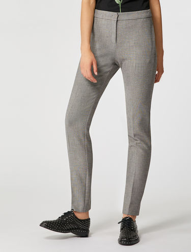 Tapered micro-patterned trousers