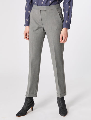 Slim fit long trousers