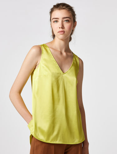 Top in raso di seta stretch