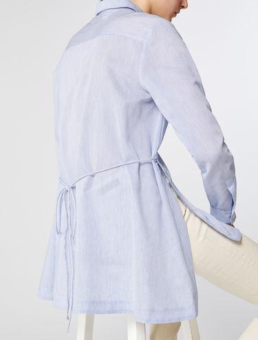 Chemise tunique en mousseline