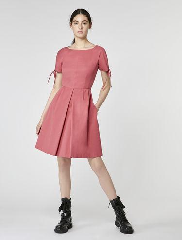 Stretch faille corolla dress