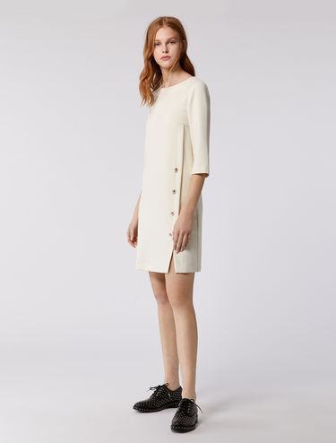 Shift dress with button detail