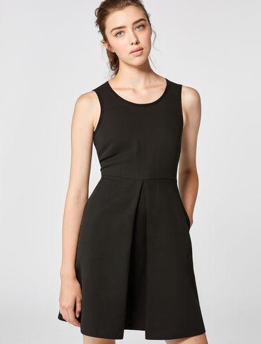 Fit & flare cotton/linen dress