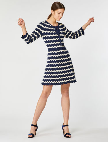 Chevron knitted dress