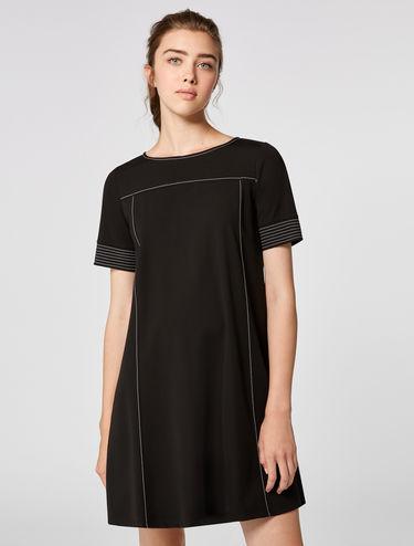 A-line jersey mini dress