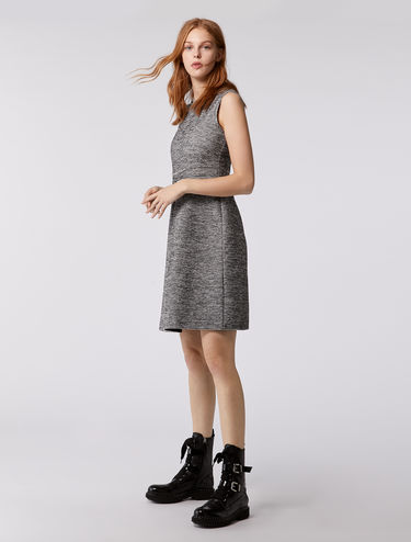 Corolla dress in tweed jersey
