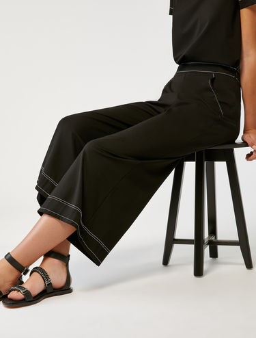 Wide-fit jersey trousers
