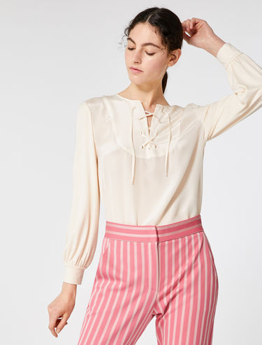 Blusa in jersey e seta