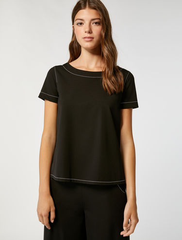 Boxy fit jersey blouse