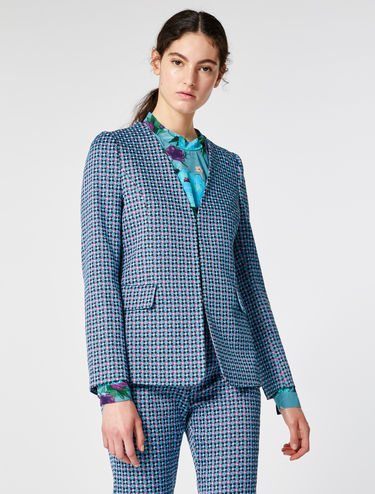Slim-fit jacquard blazer