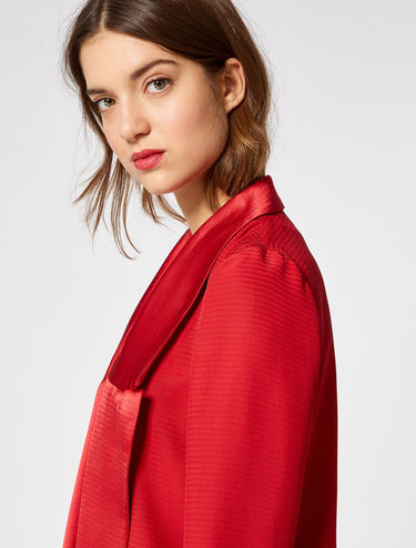 Floaty satin blazer
