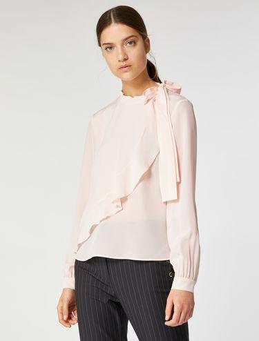 Floral ruffle detail shirt