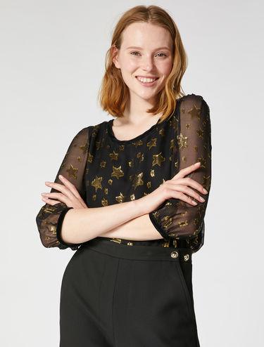 Star print blouse