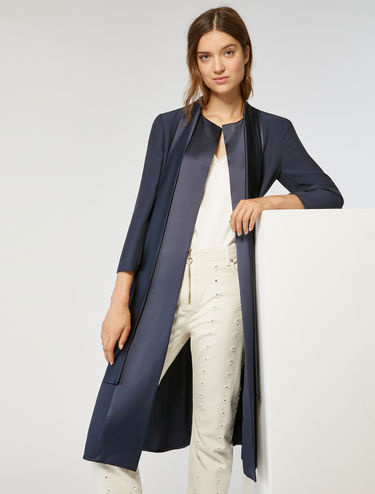 Floaty satin duster coat