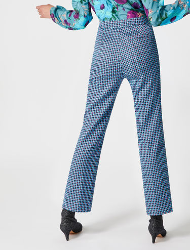 Pantalon jacquard stretch