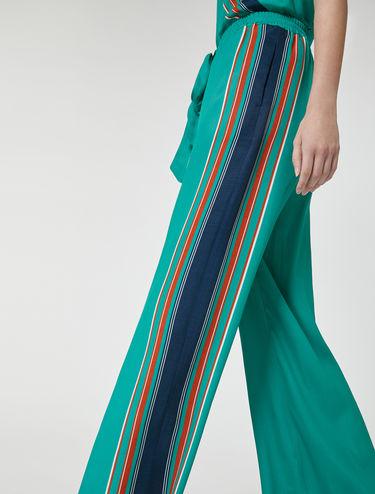 ストライプトリム スカーフ パンツ