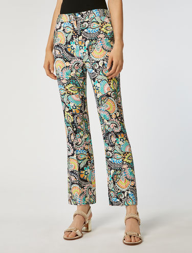 Kick-flare trousers in envers satin