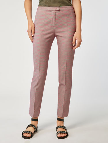 Micro pattern cocktail trousers