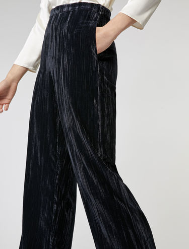 Crinkle velvet trousers