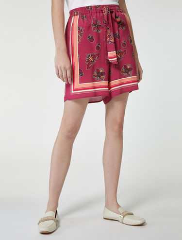 Butterfly foulard print shorts