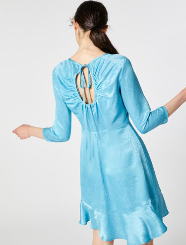 Silk jacquard dress
