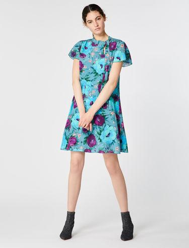 シルククレープ Aライン ドレス