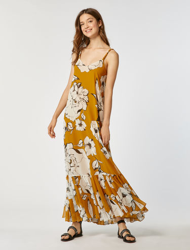 Maxi dress in georgette floreale