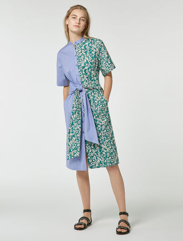 Shirt-dress with large sashes