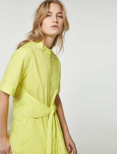 Blusenkleid mit breiter Schärpe