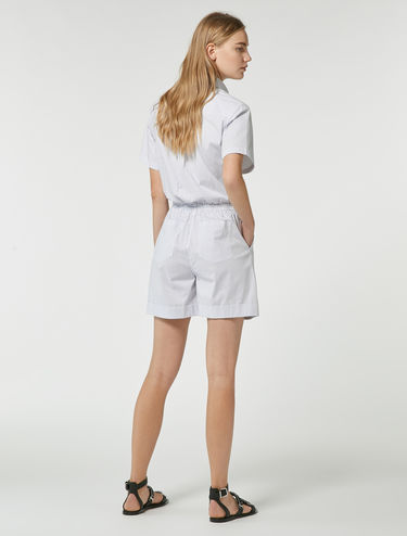 Mini shirt jumpsuit with bow