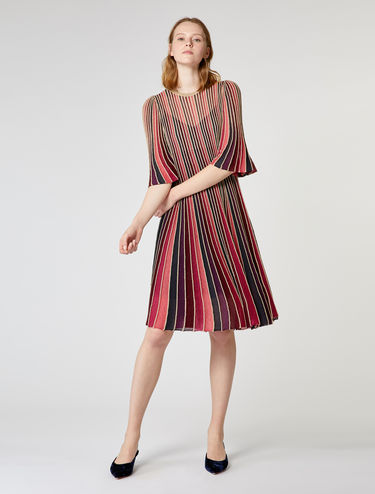 Pleated lamé dress