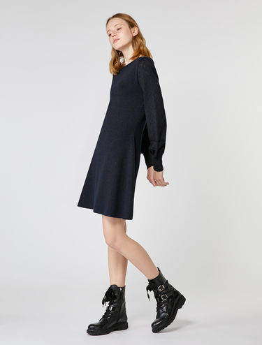 Knitted lamé dress